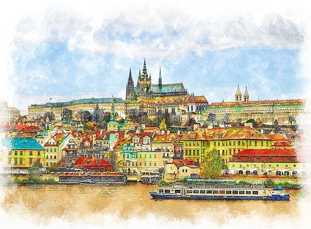 Praga. Illustration: Azazelok, Pixabay